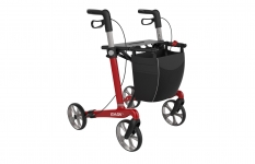 Lichtgewicht carbon Rollator Rehasense Server CF rood Large