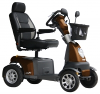 Scootmobiel Excel Galaxy Plus 4 Macadamia Brown