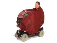 Rain poncho scooter Drive color red