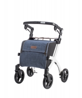 Rollator Rollz Flex wit grey tas
