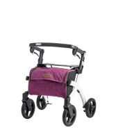 Rollator Rollz Flex small wit purple tas