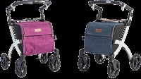 Rollator Rollz Flex wit fliprem purple tas