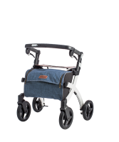 Rollator Rollz Flex small wit grey tas