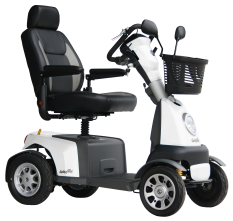 Scootmobiel Excel Galaxy Plus 4, Salt White