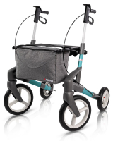 Rollator Topro Olympos ATR M turquoise profiel banden